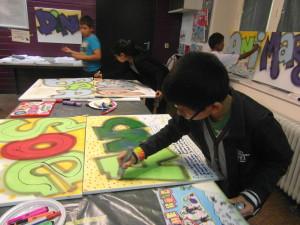 vakkracht rap en graffiti organiseerde een live performance met de leerlingen tijdens de zomerschool